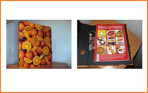 Папка-регистратор HERLITZ «Апельсины», ламинированный картон, 80 мм